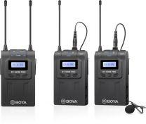 Boya UHF microphone kit 2TX+1RX wireless