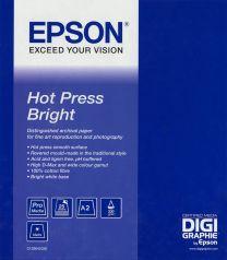 Epson Hot Press Bright A2/25