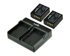 Jupio 2x Battery NP-W126S + USB Dual Charger Value Pack: